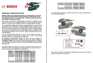 Veiligheidswaarschuwing Bosch schuurmachines