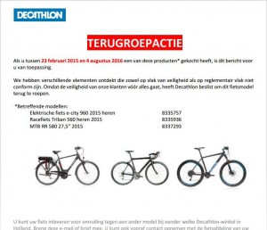 recall_decathlon_e-city_triban_mtb-fietsen