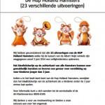 Veiligheidswaarschuwing AH Hup Holland Hamsters