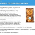 Allergiewaarschuwing Albert Heijn Roomboter Appel-Notenkoek