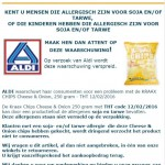 Allergiewaarschuwing Aldi Kraax Chips Cheese & Onion