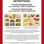 Terughaalactie houten puzzels Bart Smit