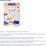 Allergiewaarschuwing Belbake Cheesecakemix Straciatella (Lidl)