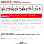 Terughaalactie BTwin Tilt vouwfietsen (Decathlon)