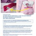 Terughaalactie C&A riem van meisjesbroek en babysetje