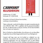 Veiligheidswaarschuwing Carpoint blusdeken