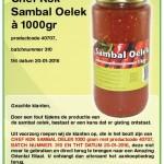 Terughaalactie Chef Kok Sambal Oelek  (Amazing Oriental)