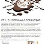 Allergiewaarschuwing Choco Creations Fruitmix