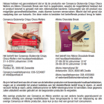 Terughaalactie Consenza Choco Wafers & Atkins Chocolate Break