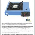 Terughaalactie DEFA 1-pits gaskomfoor