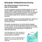 Terughaalactie Etos Dental fopspeen