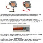 Terughaalactie gasslang Eurom gasstralers