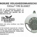 Veiligheidswaarschuwing FiXXeo blusdeken
