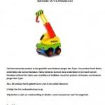 Terughaalactie Free & Easy speelgoedauto