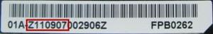 Fujitsu Notebook accu serienummer