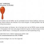 Terughaalactie HEMA oranje sambabal
