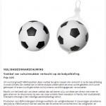 Terughaalactie H&M schuimrubber voetbal