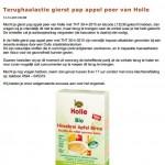 Terughaalactie Holle gierstpap appel/peer