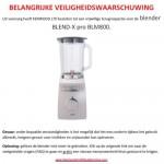 Veiligheidswaarschuwing Kenwood blender Blend-X pro BLM800