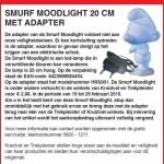 Terughaalactie Smurf Moodlight (Kruidvat & Trekpleister)