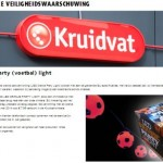 Terughaalactie Kruidvat LED oranje party (voetbal) light