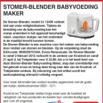 Terughaalactie Kruidvat / Trekpleister stomer-blender