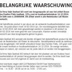 Terughaalactie Ocean Sea forellen filets knoflook (Lidl)