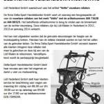 Terughaalactie Volito vouwbare rollator (Lidl)