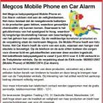 Terughaalactie Megcos Mobile Phone en Car Alarm (Trekpleister)