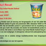 Terughaalactie Nissin Cup Noodles Seafood