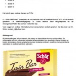 Terughaalactie Schär Chocoladereep 'Twin Bar'