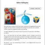 Veiligheidswaarschuwing Wibra Ballon Helikopter