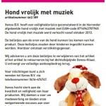 Terughaalactie Xenos Hond vrolijk met muziek