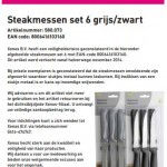 Terughaalactie Xenos steak messen