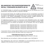 Terughaalactie Yokohama BluEarth AE-01 banden