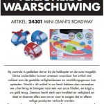Terughaalactie Zeeman Mini Giants Roadway