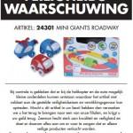 Terughaalactie Zeeman Mini Giants Roadway