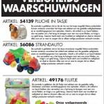 Terughaalactie divers speelgoed Zeeman