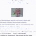 Terughaalactie roze pluche beer met sjaal