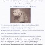 Terughaalactie grijs-witte pluche beer