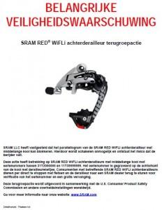 Terughaalactie SRAM Red WiFLi achterderailleur