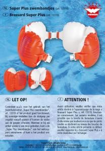 Veiligheidswaarschuwing zwembandjes