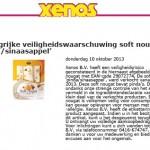 Allergiewaarschuwing Xenos nougat