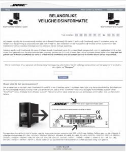 Terughaalactie Bose Acoustimass module
