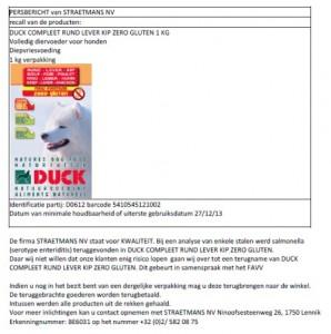 Terughaalactie Duck Compleet hondenvoer