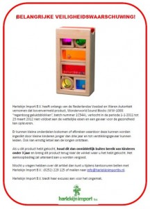 Terughaalactie Harlekijn Import Wonderworld Sound Blocks