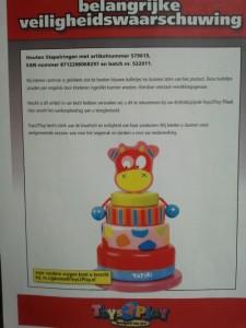Terughaalactie houten stapelringen Toys2Play