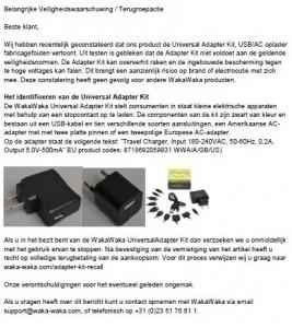 Terughaalactie WakaWaka Universal Adapter Kit