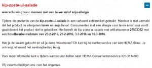 Allergiewaarschuwing HEMA kip-zoete-ui-salade