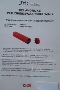 Terughaalactie mobiele oplader en speaker Big Bazar
